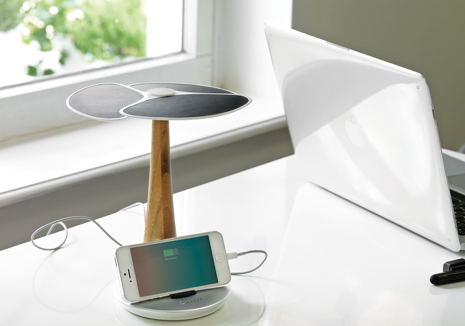 A desktop computer sitting on top of a table